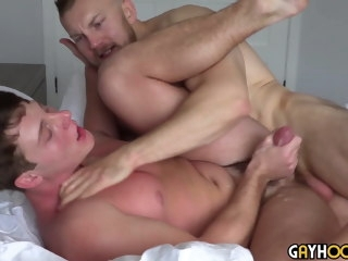 Alpha Hairy Muscle Jocks Destroys 18yo fit Teen. AMAZING SEX