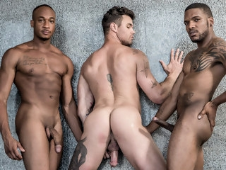 Yet another Sizzling BBC + White Threesome of Gay Performers