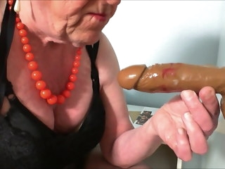 Sexy fun with dildo