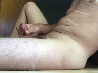 cumshot Cumshot on floor and leg floor