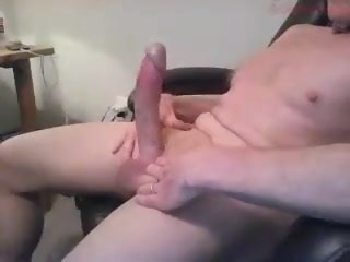 Big dicked dad wanking