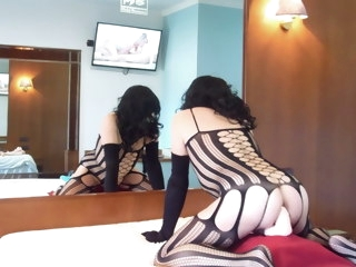 anal Anal adventures of a whore wearing black bodystocking 18 adventures