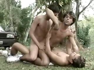 Lucky Boy Gets Double Pleasure In The Jungle
